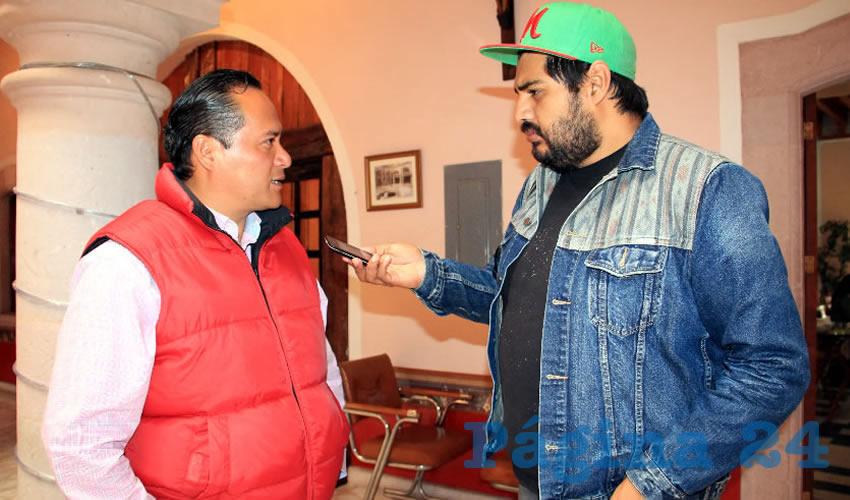 Hiram Galván Ortega, integrante de la corriente Izquierda Democrática Nacional (IDN) perteneciente al Partido de la Revolución Democrática (PRD) (Foto Rocío Castro Alvarado)