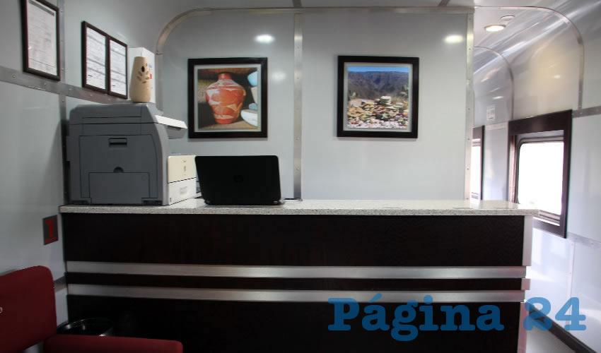 Dr. Vagón cuenta con mobiliario, equipamiento, instalaciones y personal médico necesario. Está equipado con 14 vagones con consultorios, laboratorio, salas de especialidades, farmacia, dormitorios y comedor (Foto Rocío Castro)