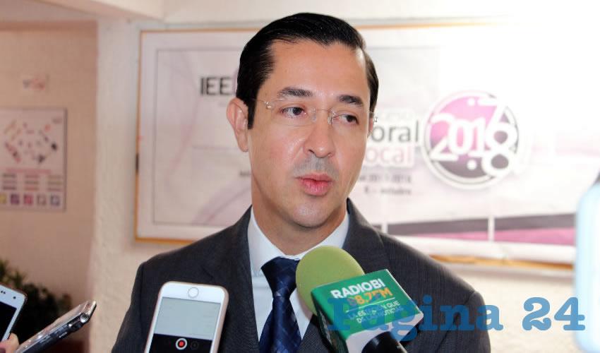 Luis Fernando Landeros Ortiz, consejero presidente del IEEA