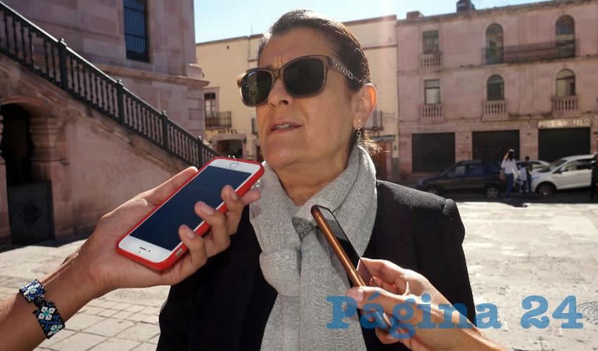 Gema Mercado Sánchez, titular de la Secretaría de Educación (Seduzac) (Foto Merari Martínez Castro)