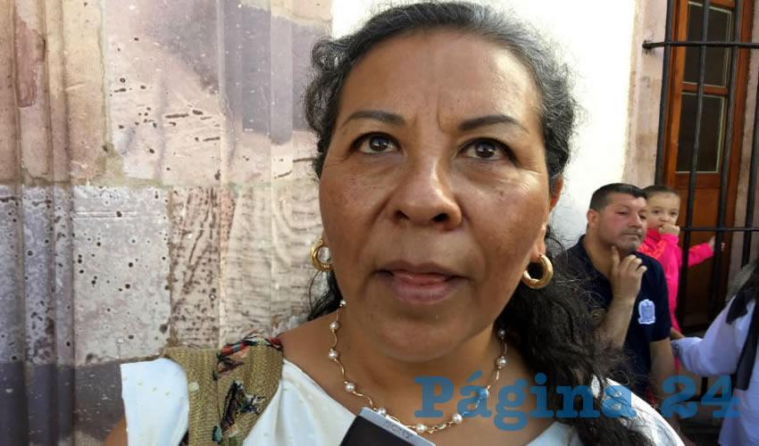 Irma Serrano Esparza, miembro de organizaciones no gubernamentales del Observatorio Ciudadano de Alerta de Género (Foto Cristo González)