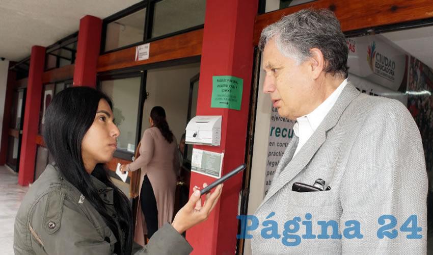 Heladio Verver y Vargas, regidor del ayuntamiento de Zacatecas (Foto Merari Martínez)