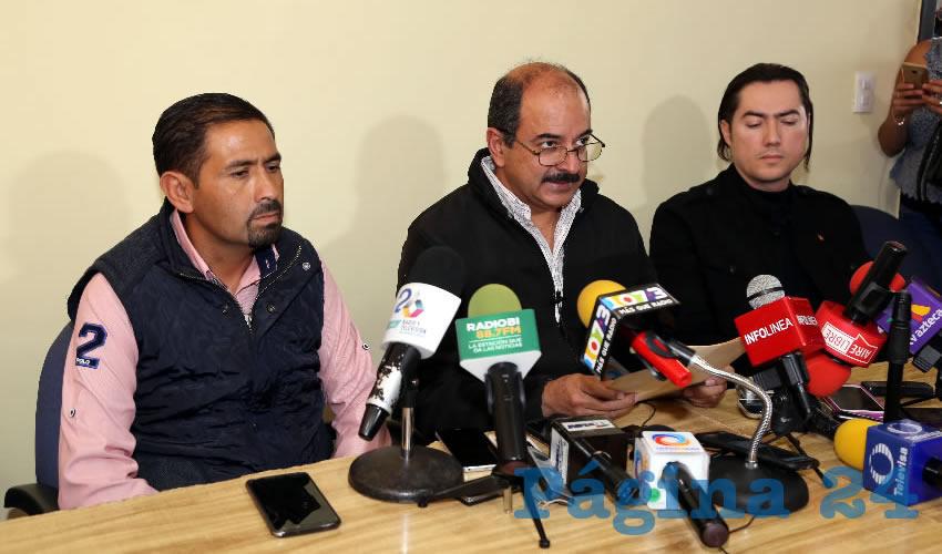 Conferencia de Prensa de Héctor Quiroz García, presidente del PT