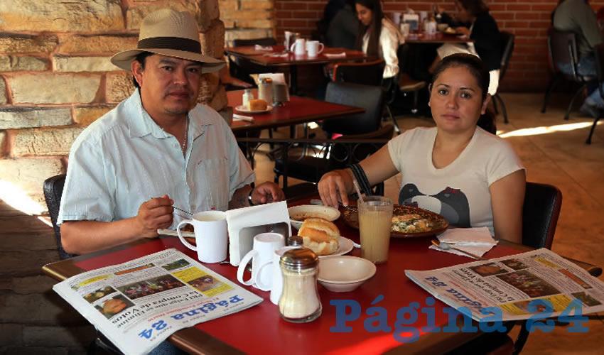 En Las Antorchas almorzaron Juan Carlos Heredia Reyes y Camila Hernández Olivares