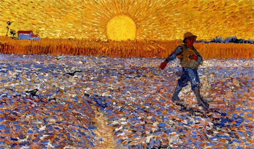Sembrador a la puesta del sol, de Vincent van Gogh