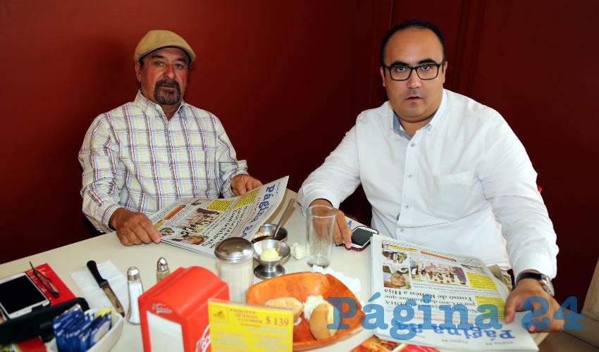 En el restaurante Mitla compartieron el primer alimento del día Marcelo Perales Rubio y Jarit Ibrahim Vázquez Lara