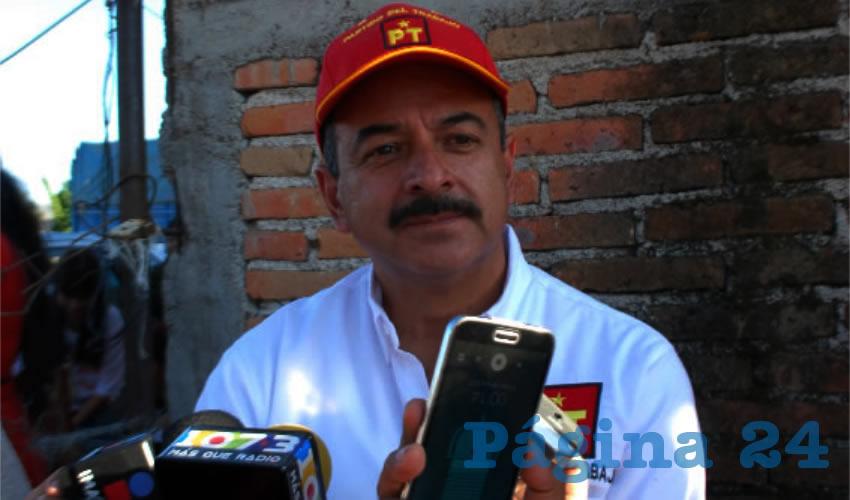 Héctor Quiroz García, dirigente del PT