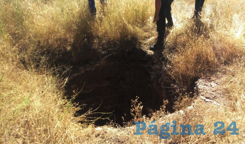 La noria donde aventaron los dos cadáveres