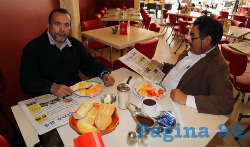En el restaurante Mitla almorzaron Refugio Alfaro Guerrero y Raúl Ávila Pedroza