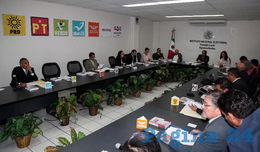 Sesión del día primero de noviembre del Consejo Local del INE en Aguascalientes
