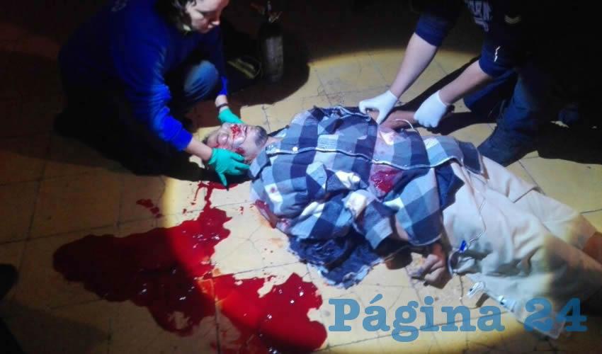 Paramédicos se apresuraron en hospitalizar a la víctima, pero sus esfuerzos fueron en vano