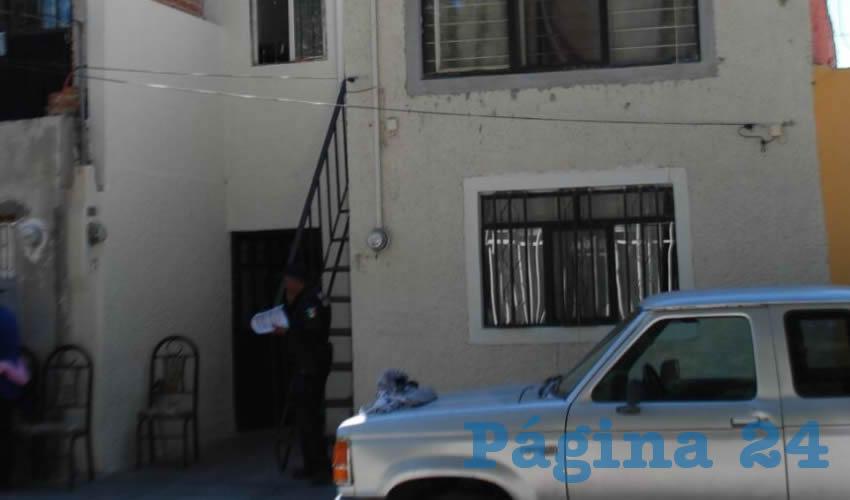 En este domicilio se quitó la vida Jairo David Esquivel, de 27 años de edad