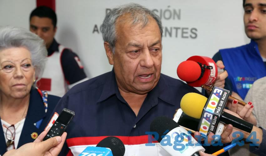 Homero Téllez Ortiz, coordinador de Socorros de la Cruz Roja (Foto: Eddyllberto Luévano Santillán)