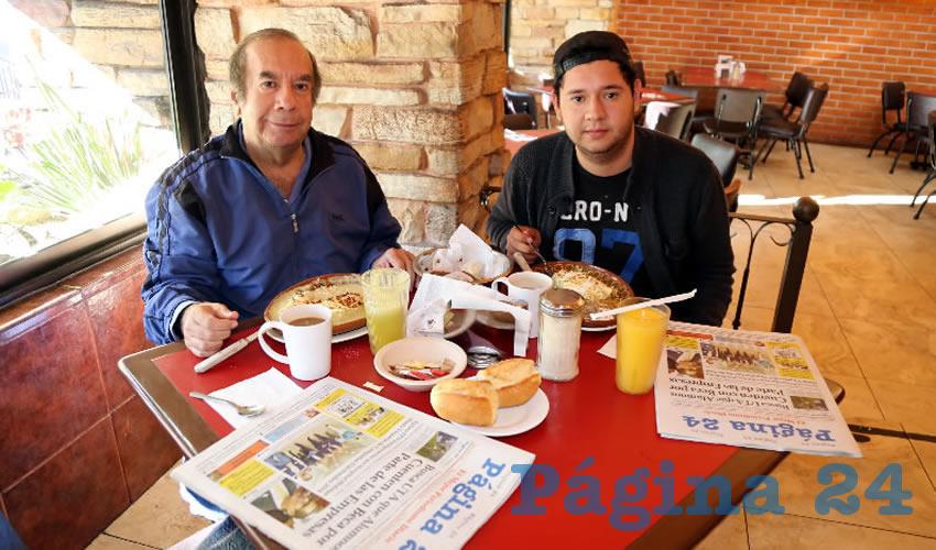 En Las Antorchas almorzaron César Ramos Alcocer y Ricardo Ramos Sánchez