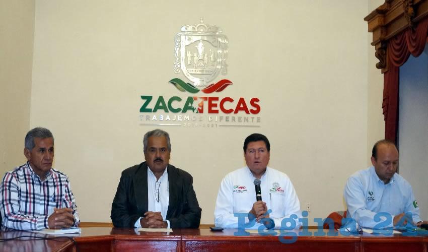Autoridades gubernamentales en el área del campo, dieron a conocer en rueda de prensa la apertura de centros de acopio de frijol, para la región que comprenden los estados de Zacatecas, Durango y Chihuahua (Foto Merari Martínez Castro)