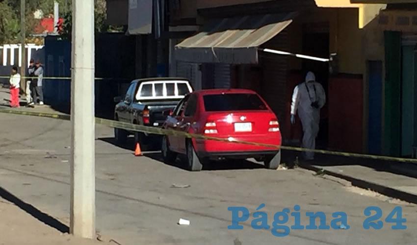 El arribo de los cuerpos policiacos a la calle Jacinto Canek