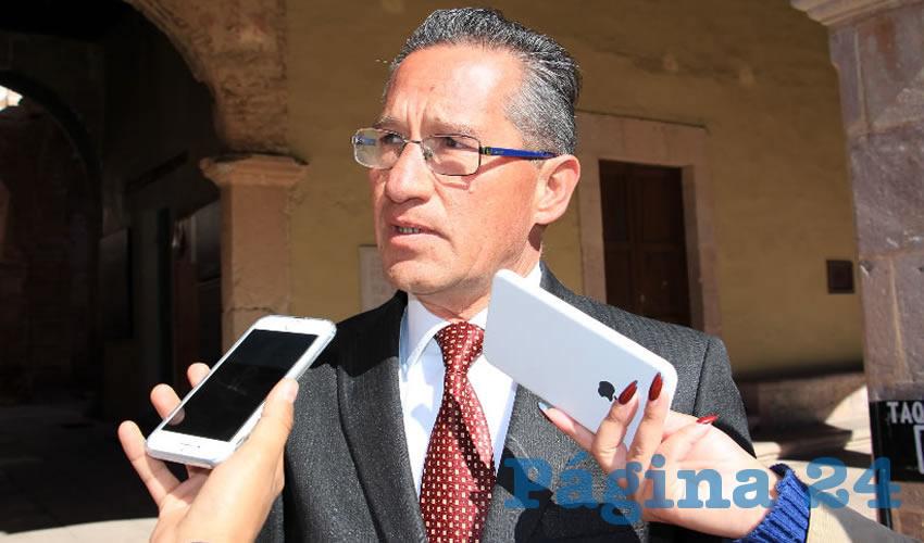 Marco Antonio Vargas Duarte, vocero en materia de Seguridad de Gobierno del Estado (Foto: Rocío Castro Alvarado)