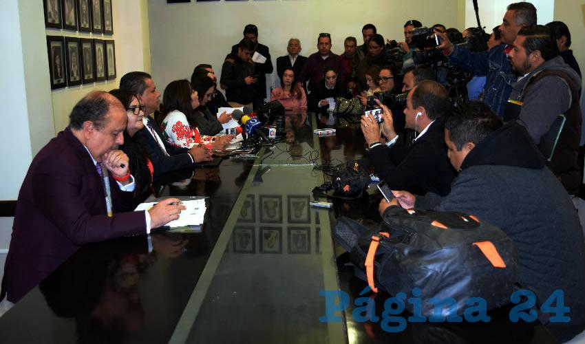 Conferencia de prensa grupo parlamentario PRI