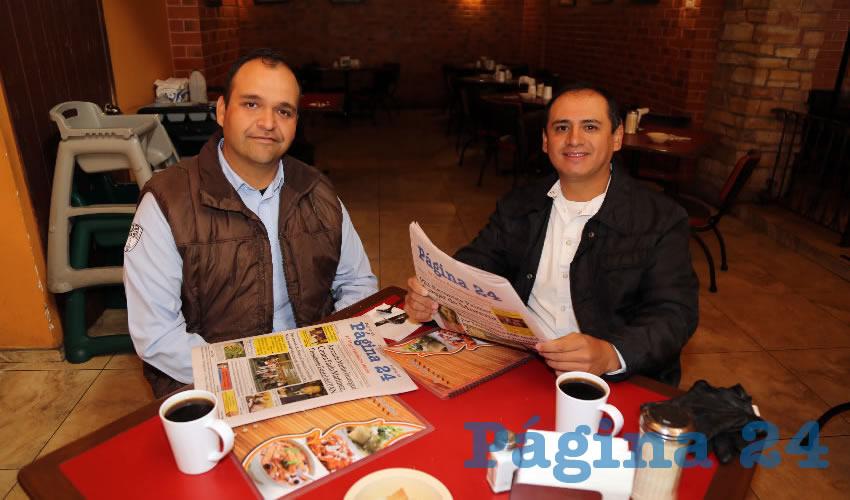 Compartieron el pan y la sal en el restaurante Las Antorchas René Rico Moctezuma y Jorge Rangel Ávila