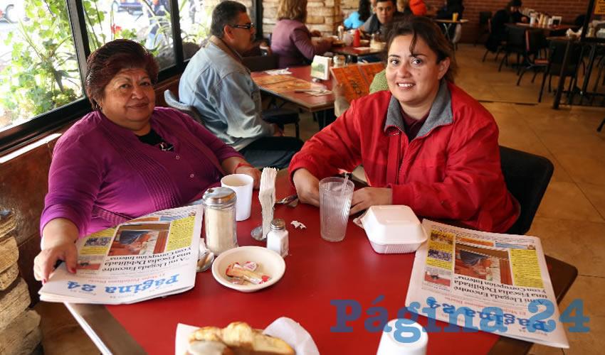 En Las Antorchas almorzaron Guadalupe Morales Martínez y Sol Morales Martínez