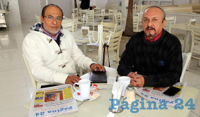 En el restaurante Del Centro compartieron el pan y la sal Francisco Pérez Jiménez y Miguel Ángel Pérez Jimén