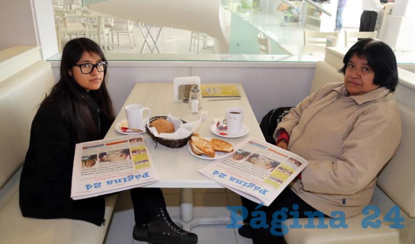 En el restaurante Del Centro desayunaron Estela Spirito Araoz y Estela Velázquez