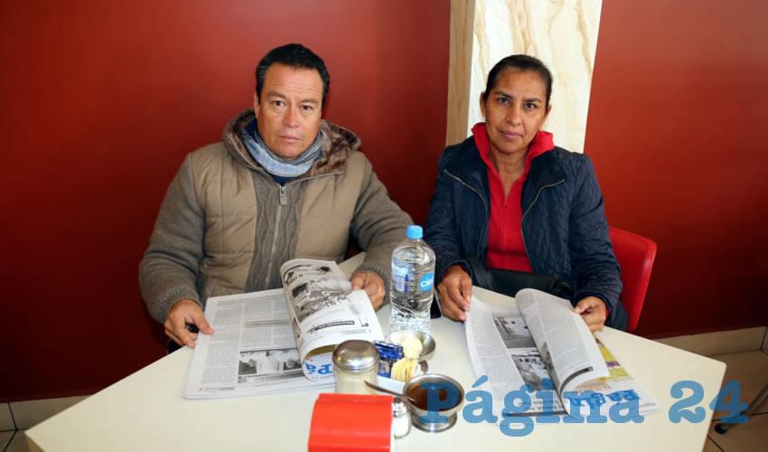 En el restaurante Mitla almorzaron Martín Ávila Moreno y Griselda Cardona Solano