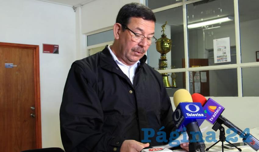 Juan José Rangel Martínez, director de Seguridad Pública de la capital (Foto Rocío Castro Alvarado)