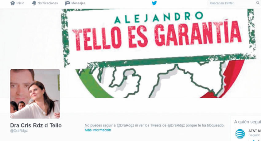 Doña Cristina se la pasó toda la campaña de su marido Alejandro Tello, diciendo que él era garantía de un buen Gobierno ¿cómo no creer en ella?