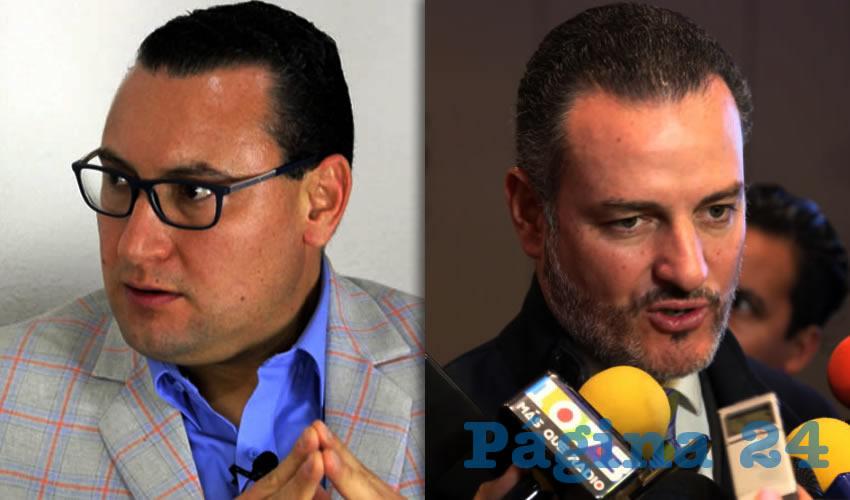 Paulo Martínez López, presidente estatal del PAN | René Urrutia de la Vega, fiscal general del Estado