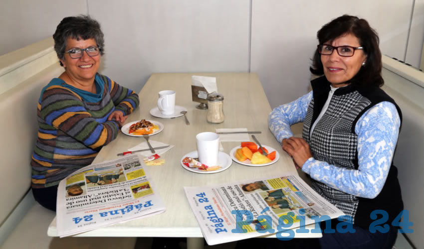 En el restaurante Del Centro almorzaron Marisol Robles del Río y América de Guzmán