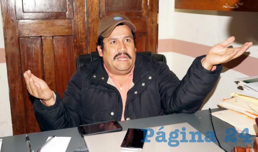 Jaime Ramos Martínez, integrante de la Comisión Ejecutiva del Frente Popular de Lucha de Zacatecas (FPLZ) (Foto Merari Martínez Castro)