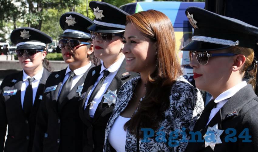 La visión de la alcaldesa ha incluido la dignificación del trabajo de los policías así como su acercamiento con la ciudadanía