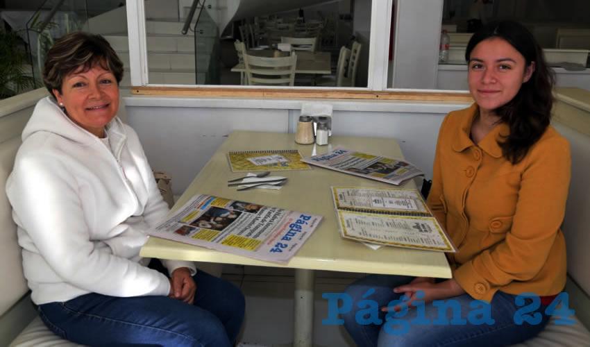 En el restaurante Del Centro almorzaron Irma Villalobos Hernández y Dinorah Camacho Villalobos