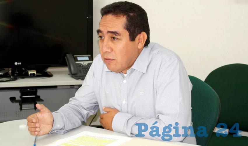 Tomás Zúñiga Ramírez, delegado en Zacatecas de Financiera Nacional de Desarrollo (Foto Merari Martínez Castro)