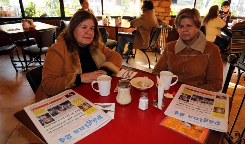 En Las Antorchas almorzaron María Elena Martínez y Silvia Patricia Martínez