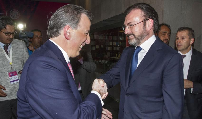 José Antonio Meade y el canciller Luis Videgaray (Foto: Archivo/ Isaac Esquivel /Cuartoscuro)