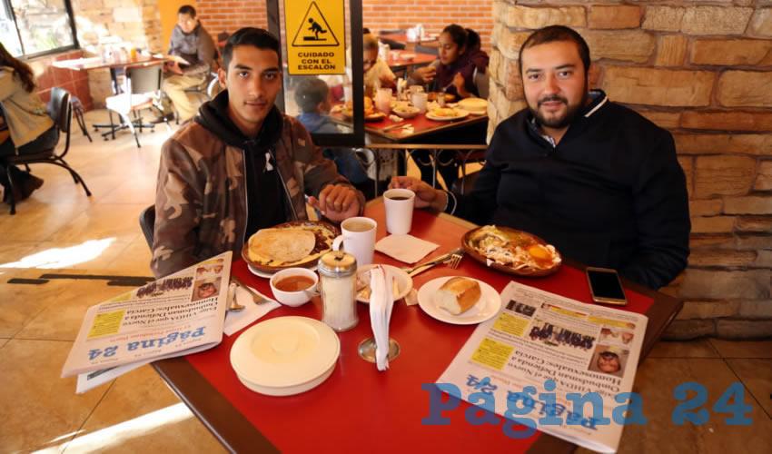 En Las Antorchas almorzaron José Manuel Martínez Durán y Gerardo Ortega Jara