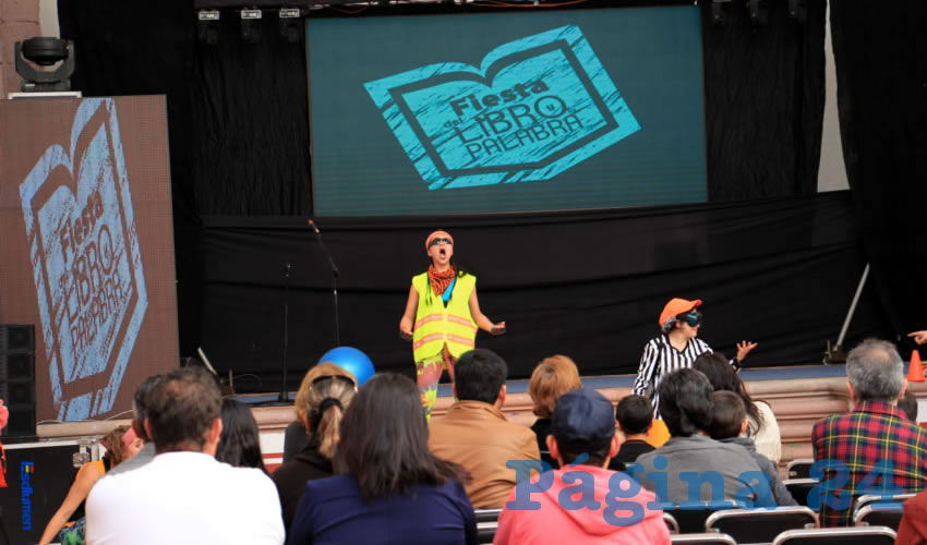 Esta obra teatral fue presentada a la sociedad zacatecana que se dio cita, dentro de las actividades de la Fiesta del Libro y la Palabra, ayer domingo 3 de diciembre. (Foto Rocío Castro Alvarado)
