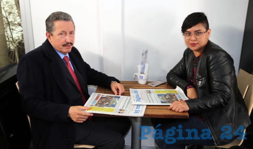 En Café Punta del Cielo departieron J. Asunción Gutiérrez Padilla, aspirante a presidente de la Comisión Estatal de los Derechos Humanos (CEDHA) y Mariana Ávila Montejano, coordinadora del Observatorio de Violencia Social y de Género de Aguascalientes (OVSGA)