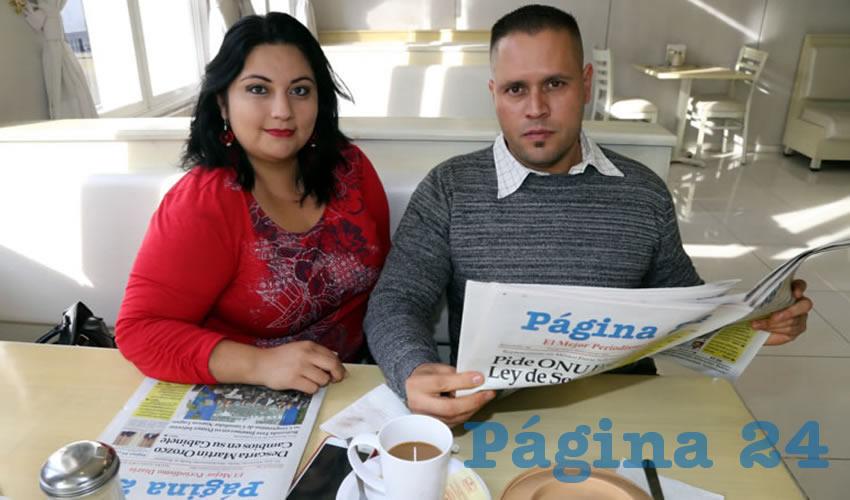 En el restaurante Del Centro almorzaron Mayra Jiménez Landín e Irving Rivera Díaz