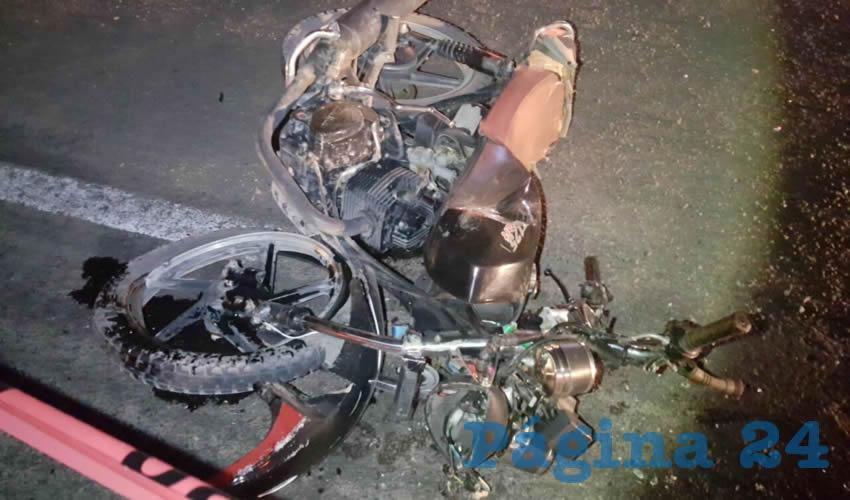 """Esta es la jaca de acero que tripulaba Alejandro Orozco, quien murió al estamparse contra una """"combi"""" de transporte público foráneo"""