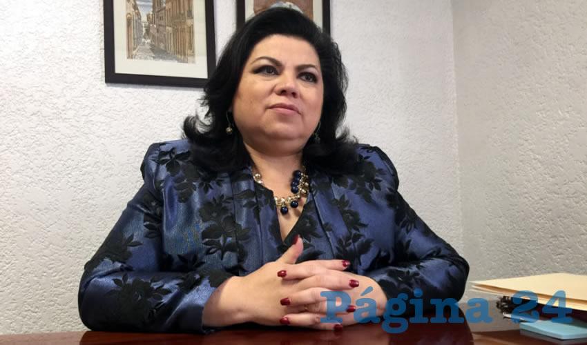 Lorena Esperanza Oropeza Muñoz, presidenta de la Comisión de Seguridad Pública y Justicia dentro de la 62 Legislatura (Foto Cristo González)