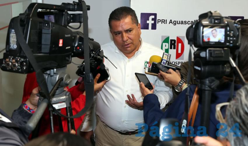 Enrique Juárez Ramírez, presidente del CDE del PRI (Foto: Eddylberto Luévano Santillán)