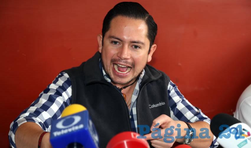 Jesús Ramírez Pérez, delegado de CROM Aguascalientes (Foto: Eddylberto Luévano Santillán)