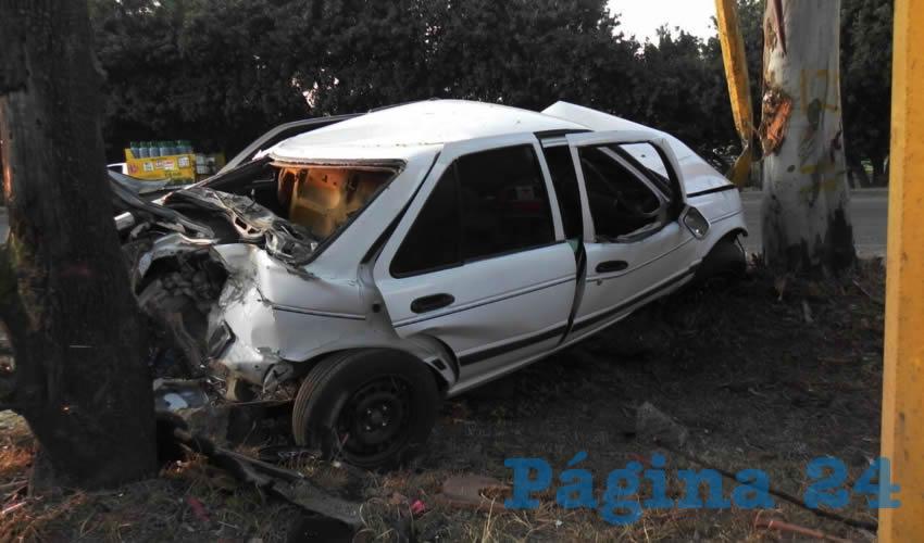 El brutal choque ocurrió sobe la carretera federal 70 poniente