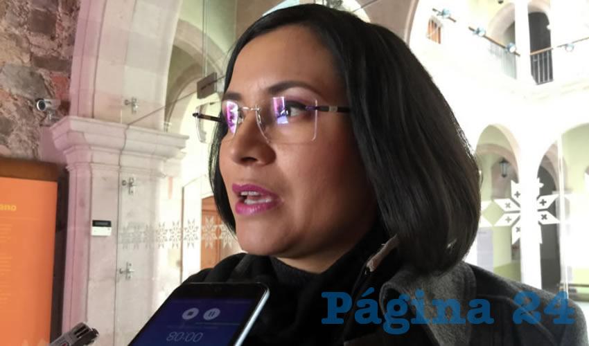 María de la Luz Domínguez Campos, presidenta de la Comisión de Derechos Humanos del Estado (CDHE) (Foto Cristo González)
