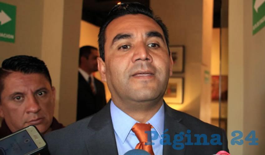 Luis Santos Hernández, alcalde de Villa García (Foto Rocío Castro)