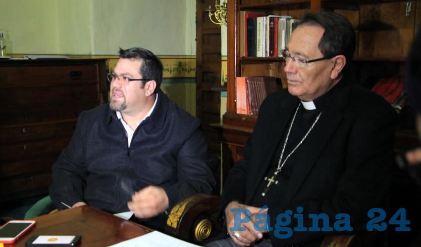 Daniel Ayala Talamantes, sacerdote encargado del proyecto (Foto Rocío Castro Alvarado)