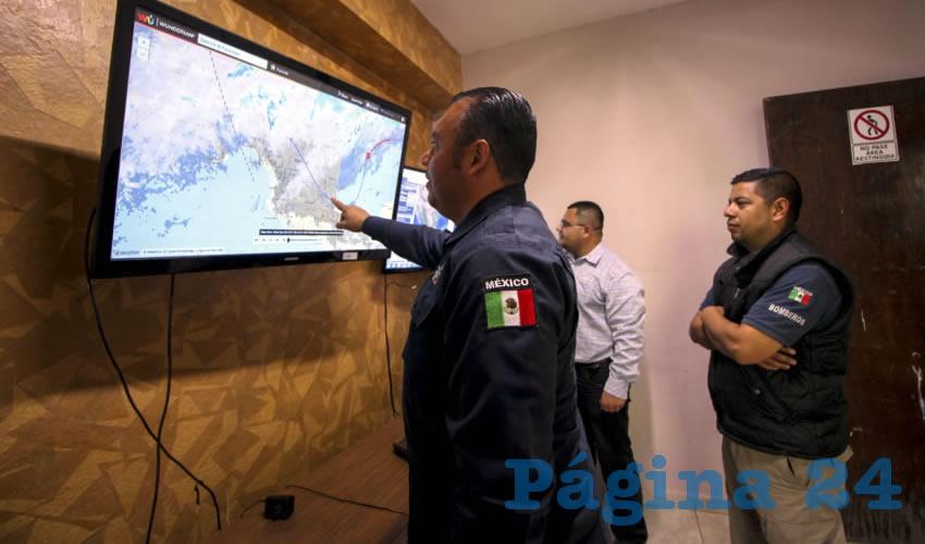 Gerardo Carrillo Luna, jefe del departamento de protección civil